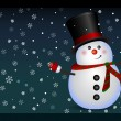 Snowman - background, vector — Stockvectorbeeld