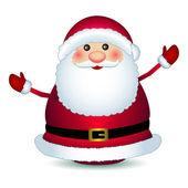 Santa claus on white background, vector — Stock Vector