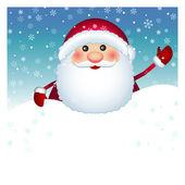 Santa Claus card, vector — Stock Vector