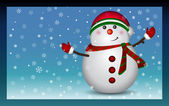 Snowman - background, vector — Stock Vector