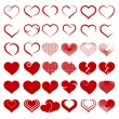Set of symbol heart, vector — Stock Vector #18053841