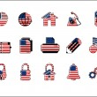 Colorful USA Web Site & Internet icon set, VECTOR — Stock Vector