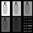 Eye test chart with glasses, vector — Stock Vector #18055835