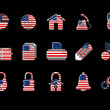 Colorful USA Web Site & Internet icon set, VECTOR — Stock Vector #18056739