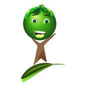 Cartoon happy tree - Save the earth, vector — Stock Vector