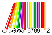 Colorful domino bar code, vector — Stock Vector