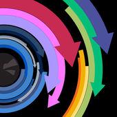 Eye with arrow — Stock Vector