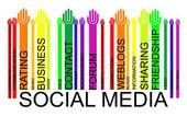 SOCIAL MEDIA text bar-code, vector — Stock Vector