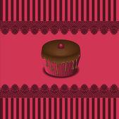 Torta tarjetas, vector — Vector de stock