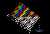Colorful liquid bar code, perfect for sale, vector — Stock Vector