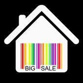Discount HOUSE BARCODE , vector — Stock Vector
