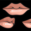 Hot Sensual Mouth, vector - Stockvectorbeeld