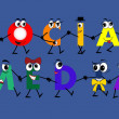 Social Media characters - network, vector — Stock Vector