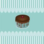 ケーキ カード、ベクトル — ストックベクタ