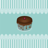 Cake cards, vector — Stock Vector