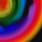 Resumen fondo espiral color - vector — Vector de stock