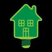 Eco huse bulb, vector — Stock Vector