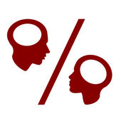 Red Man and Woman Concept Percent, vector — Stock Vector