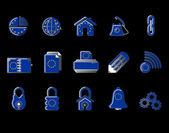 Colorful EU Web Site & Internet icon set, VECTOR — Stock Vector