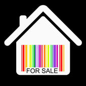 出售房子条码矢量 — 图库矢量图片