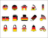 Colorful Germany Web Site & Internet icon set, VECTOR — Vector de stock