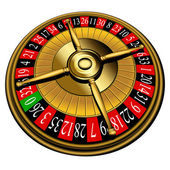 Roulette wheel, vector — Stock Vector