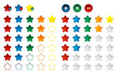 Colored star favorite button, vector — Stock Vector