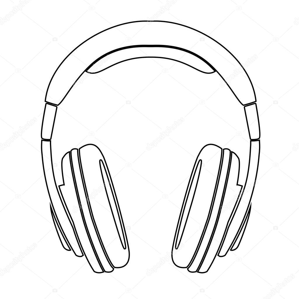 Headphones Drawing Simple | www.imgkid.com - The Image Kid ...