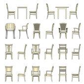 Conjunto de silla moderna, vector — Vector de stock