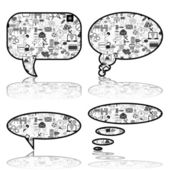 Social Media, communication bubbles in the global computer netwo — Stock Vector