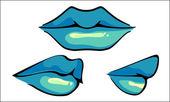 Hot Sensual Mouth, vector — Stock Vector
