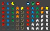Colored star favorite button, vector — Stock Vector