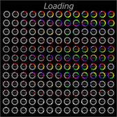 Färgglada olika cirkel loader förloppsindikatorn, vektor — Stockvektor