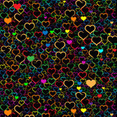 Colorful Valentine's day background with hearts, vector — Stockvector