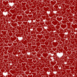 Colorful Valentine's day background with hearts, vector — Stock Vector
