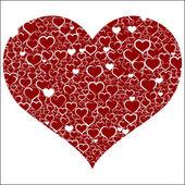 Valentin coloré avec des cœurs, vector — Vecteur