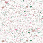 Colorful Valentine's day background with hearts, vector — Wektor stockowy