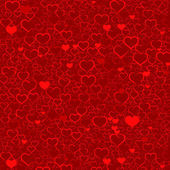 Colorful Valentine's day background with hearts, vector — Stockvektor