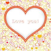 Valentinstag Karte Vektor Hintergrund — Stockvektor