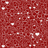 Colorful Valentine's day background with hearts, vector — 图库矢量图片