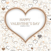 Valentines day card vector background — Stock Vector