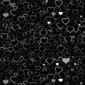 Valentine's day background with hearts, vector — 图库矢量图片