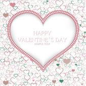 バレンタインの日カードのベクトルの背景 — ストックベクタ