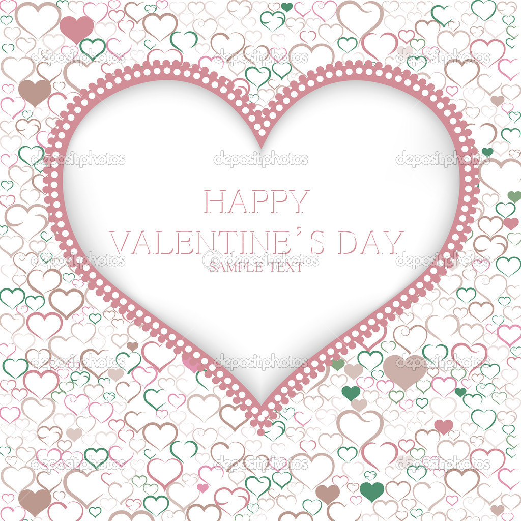 Valentines day card vector background — Stock Vector #18316659