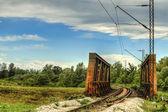 Puente ferroviario en el país — Foto de Stock