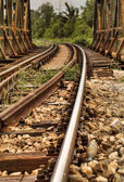 Railway tracks over the Bridge — Stock Photo