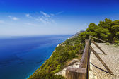 Seacliff con valla, mirador — Foto de Stock