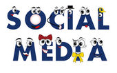 Social Media characters — Stockvector