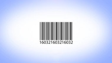 Scanning barcode — Vídeo Stock
