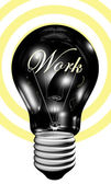 Bulb with work light — Stock Photo